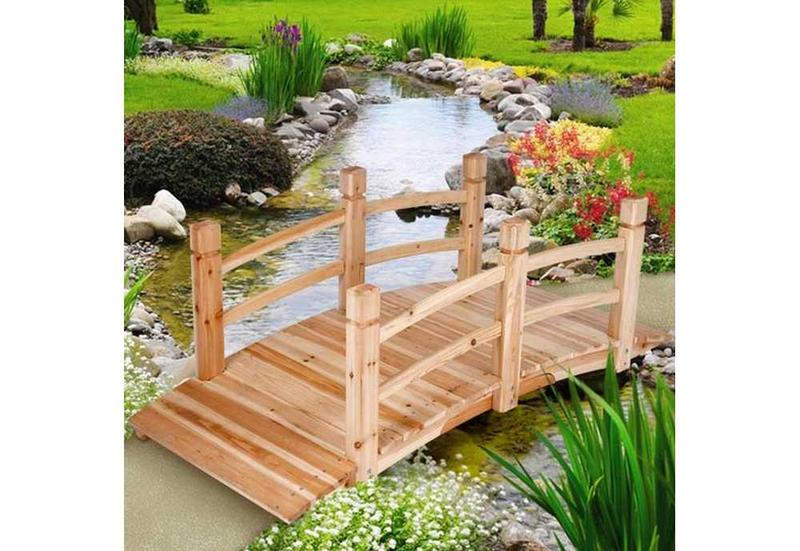petit pont en bois pour jardin. Black Bedroom Furniture Sets. Home Design Ideas