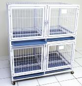 Cage gardiennage 4 compartiments