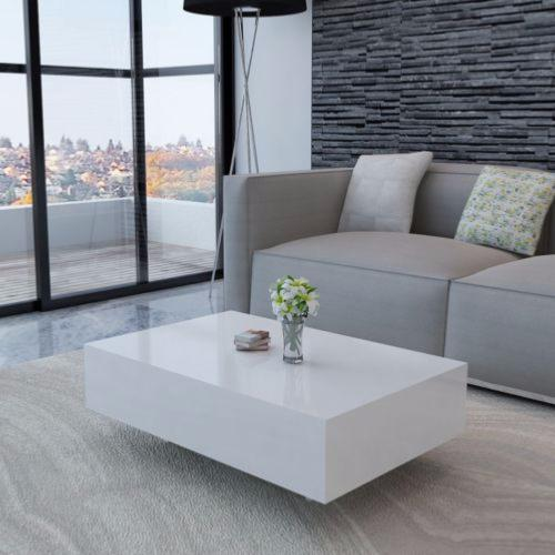 table basse moderne laqu e blanc cielterre commerce. Black Bedroom Furniture Sets. Home Design Ideas