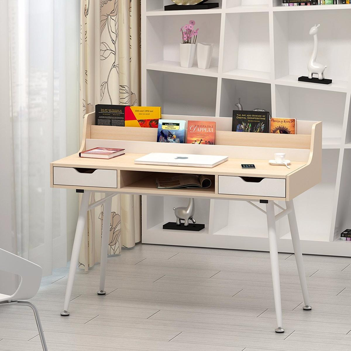 Bureau informatique design h tre cielterre commerce for Bureau hetre