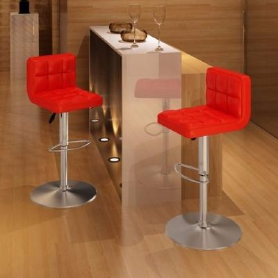 Lot 2 Tabourets de bar rouge noir ou blanc
