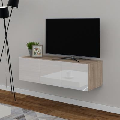 meuble tv buffet blanc brillant ch ne cielterre commerce. Black Bedroom Furniture Sets. Home Design Ideas
