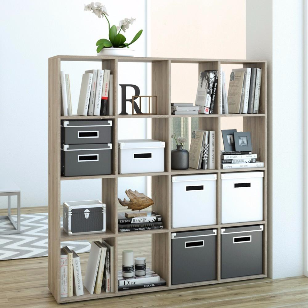 Meuble tag res ch ne 16 compartiments cielterre commerce for Meuble bureau etagere
