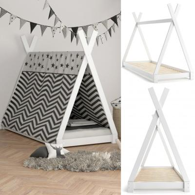 tipi montessori blanc pour enfant 90x200 cm cielterre commerce. Black Bedroom Furniture Sets. Home Design Ideas