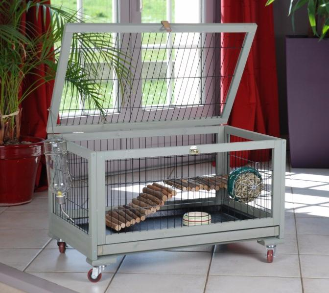Cage lapin int rieur ext rieur cielterre commerce for Enclos lapin interieur