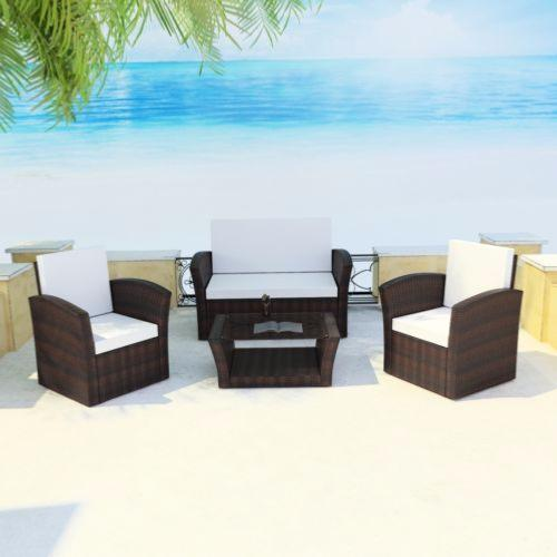 salon de jardin confortable 2 couleurs ciel et terre. Black Bedroom Furniture Sets. Home Design Ideas