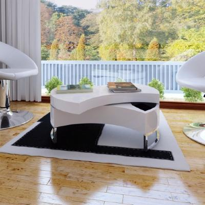 table basse laqu blanc ou noir ciel et terre. Black Bedroom Furniture Sets. Home Design Ideas