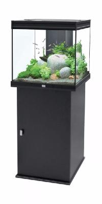 aquarium meuble 95 litres noir ciel et terre. Black Bedroom Furniture Sets. Home Design Ideas