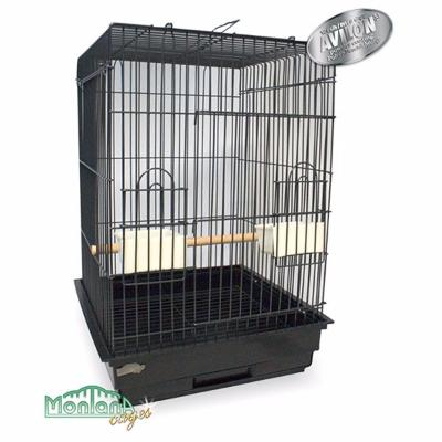 Cage de transport perroquet noir