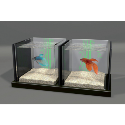 aquarium double combattant ciel et terre. Black Bedroom Furniture Sets. Home Design Ideas