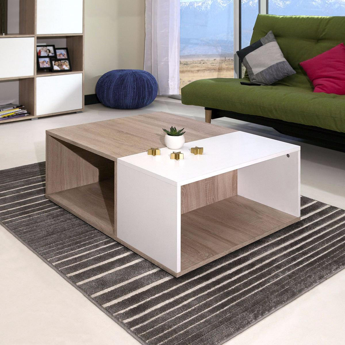 table basse blanc ch ne cielterre commerce. Black Bedroom Furniture Sets. Home Design Ideas