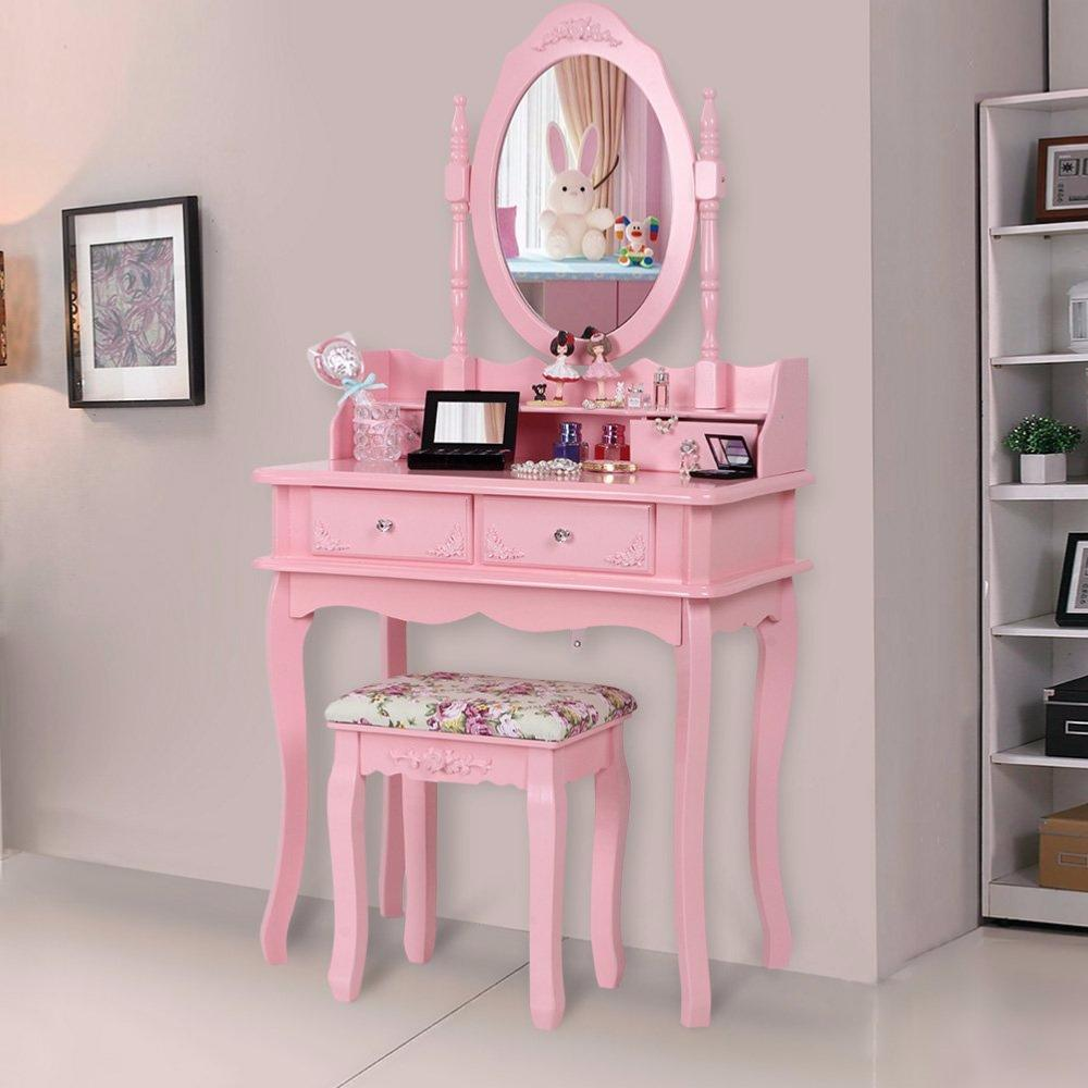 Coiffeuse Rose Tendance Complete Ciielterre Commerce
