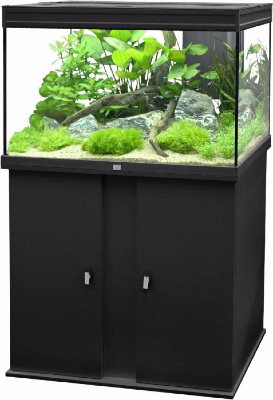 aquarium meuble 128 litres noir ciel et terre. Black Bedroom Furniture Sets. Home Design Ideas