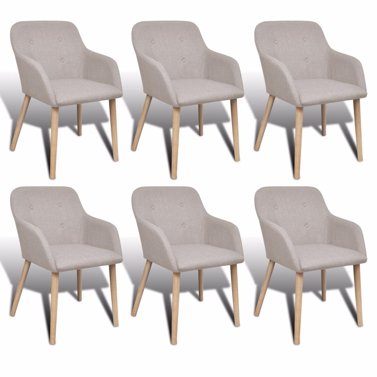 Lot de 6 chaises scandinave cielterre commerce for 6 chaises scandinaves