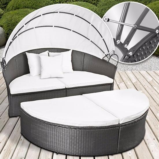 salon de jardin rond gris tendance ciel et terre. Black Bedroom Furniture Sets. Home Design Ideas