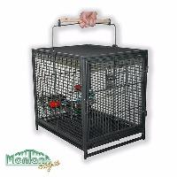 Cage de transport perroquet anthracite