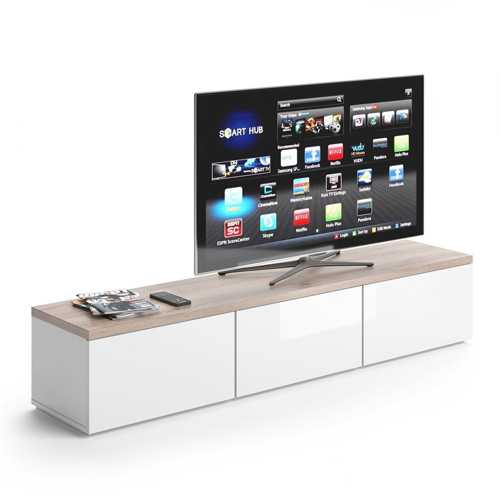 meuble tv buffet blanc ch ne cielterre commerce. Black Bedroom Furniture Sets. Home Design Ideas