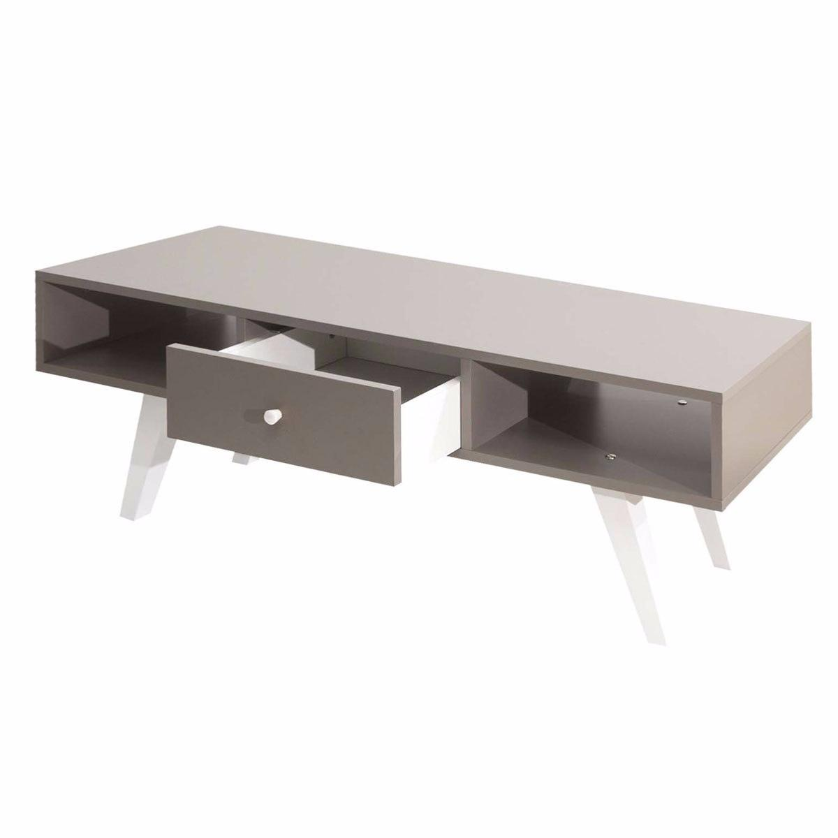 Meuble Tv Scandinave Taupe Blanc Cielterre Commerce # Meuble Tv Taupe