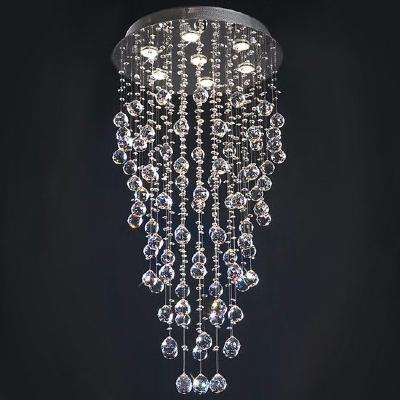 lustre cristal 7 luminaires ciel et terre. Black Bedroom Furniture Sets. Home Design Ideas