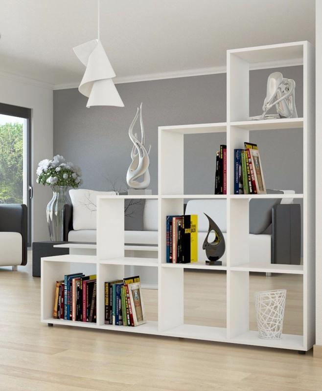 Meuble Etagere Separateur De Piece Blanc