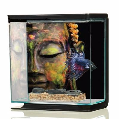 aquarium combattant motif zen ciel et terre. Black Bedroom Furniture Sets. Home Design Ideas