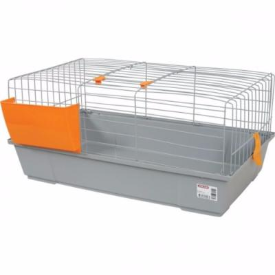 Cage lapin grise orange