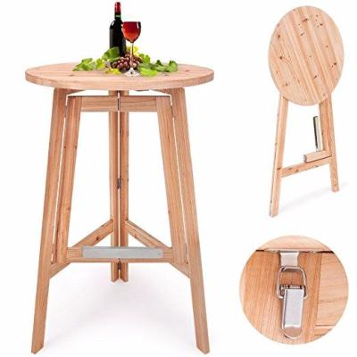 Table de bar en pin cielterre commerce for Bar de jardin en bois