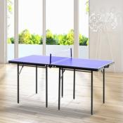 Table de ping pong pliable et transportable