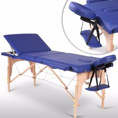 Table de massage bleu 3 zones