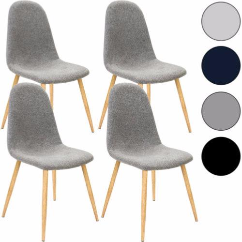 lot de 4 chaises scandinave 4 couleurs. Black Bedroom Furniture Sets. Home Design Ideas