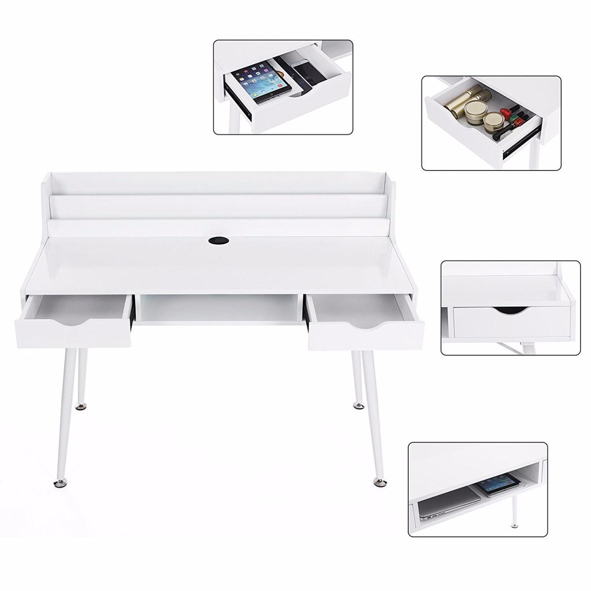 Bureau informatique design blanc cielterre commerce for Bureau informatique design