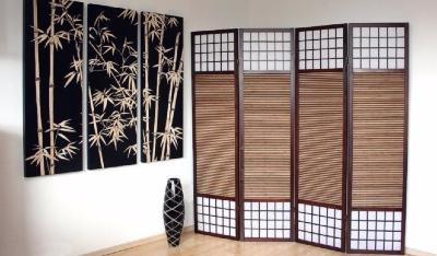 paravent japonais 4 tailles ciel et terre. Black Bedroom Furniture Sets. Home Design Ideas