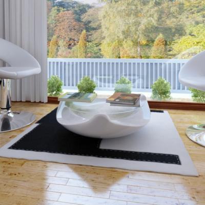 Table basse blanche tendance ronde