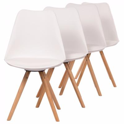 4 chaises blanches tendance scandinave cielterre commerce. Black Bedroom Furniture Sets. Home Design Ideas