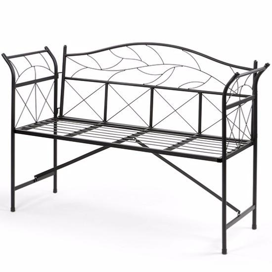 banc de jardin en m tal cielterre commerce. Black Bedroom Furniture Sets. Home Design Ideas