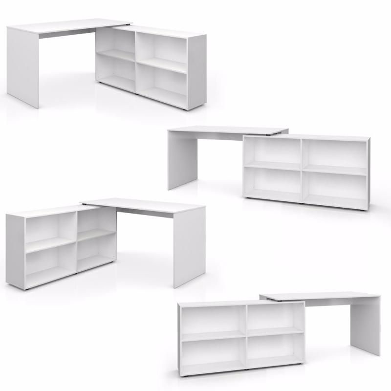 bureau multi angle blanc ciel et terre. Black Bedroom Furniture Sets. Home Design Ideas