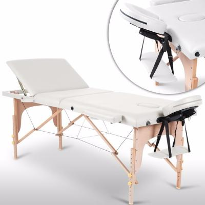 Table de massage blanche 3 zones
