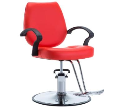 Chaise coiffeur professionnel rouge