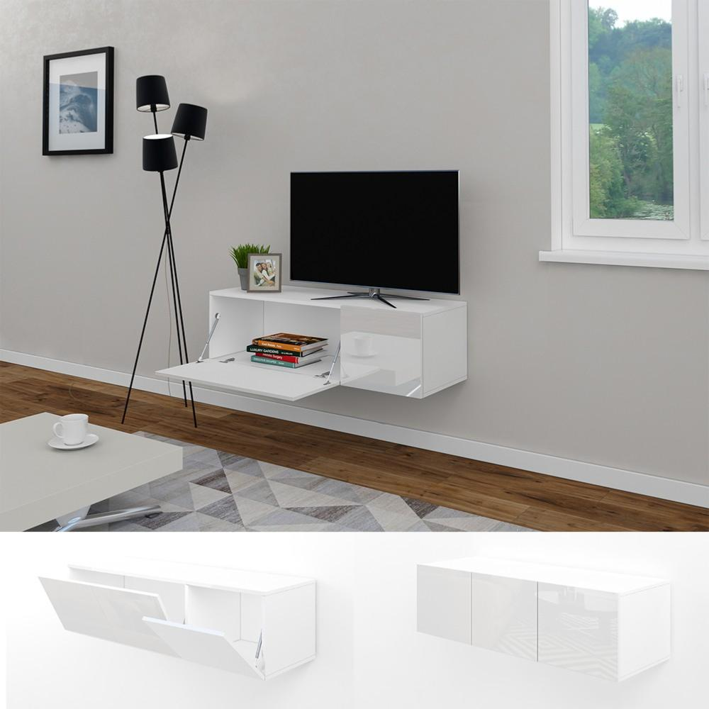 meuble tv buffet blanc brillant cielterre commerce. Black Bedroom Furniture Sets. Home Design Ideas