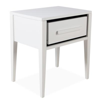 Table de chevet pin massif blanc